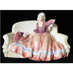 Large Art Deco Katzhutte Lady Figurine  #2394580