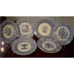 Spode Set of 6 Victorian Plates  #2394583