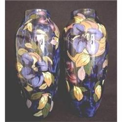 Royal Stanley Ware Jacobean Vases (Pair) 1920s #2394610