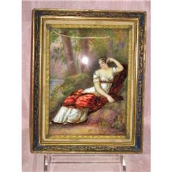 An  Exordinary Enamel Painting Plaque #2394639