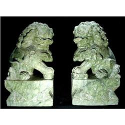 Antique pair of Chinese Fu Dogs #2394651
