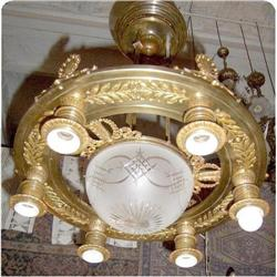French Chandelier Empire Style 7 Lights #2394653