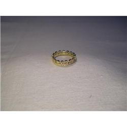 18K YG Gold Hidalgo Brown Diamond Band Ring #2394671