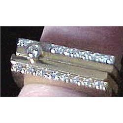 Set of three diamond & gold stacking rings #2394674