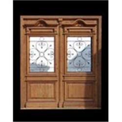 Double entry door with amazing wrought iron #2394679