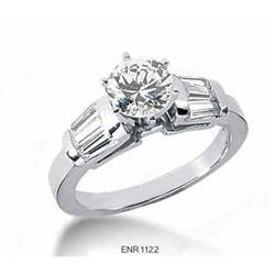 14K WG Diamond Engagement Ring Setting #2394684