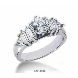14K White Gold Diamond Engagement Ring #2394685