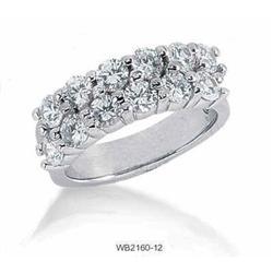 white gold DIAMOND wedding band #2394689