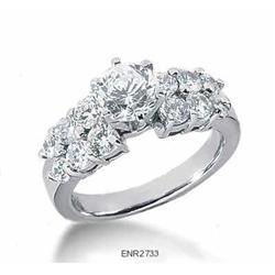 2.41 carats Round Multi-stone Engagement Ring #2394690