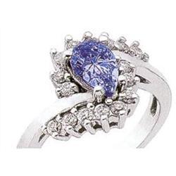 Diamonds 2.79 ct diamond pear cut sapphire gold#2394891