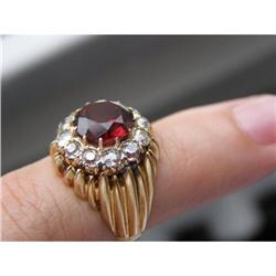 IMPERIAL RUSSIAN FABERGE GOLD DIAMOND RING #2394895