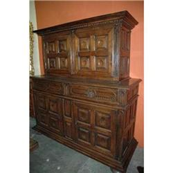 Deux-Corps walnut Cabinet C.1890 L. XIII style #2394920