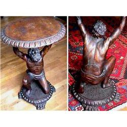 17th Century Figural Atlas Support Table 17c #2394927