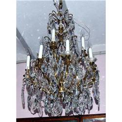 French lead Crystal  bronze 12 L chandelier  #2394930