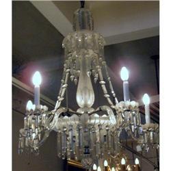 Large Antique  Bohemia Crystal Chandelier #2394931