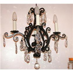 Antique Wrought iron chandelier #2394940
