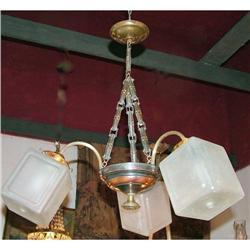 Rare Art Deco Chandelier  original shades #2395004