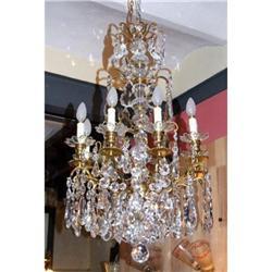 French Versailles  chandelier bronze  crystal  #2395011