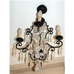 Antique Wrought iron French chandelier  #2395012