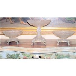 Original Baccarat Crystal Garniture  #2395014