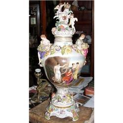 Dresden  Carl Thieme porcelain urn vase #2395016