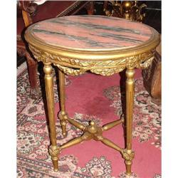 French Louis XVI Table and marble top #2395019