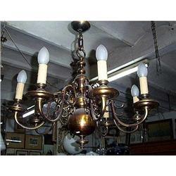 Dutch   Bronze  chandelier #2395026
