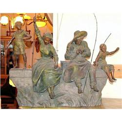 Family fishing sculpture  by Madrassi Italy #2395034
