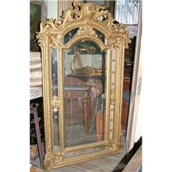 Period Empire heavily carved French Mirror #2395036