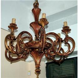 Large French Empire Bronze cast Chandelier  #2395037