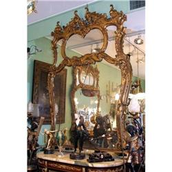 PAIR large French gold  gilt wood mirror #2395039