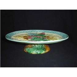 English Majolica Oval Footed Stand #2395119