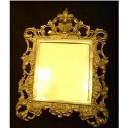 Antique Large Brass Picture Frame #2395121
