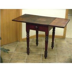 Untouched 1800s Fine Stocky Pembroke Work Table#2395135