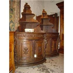 Pair of Louis XIII Style Corner Cabinets #2395139