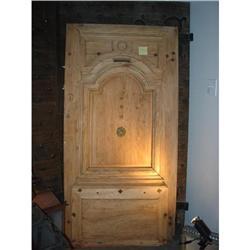 Antique French Louis XIV Stripped Walnut Door #2395147