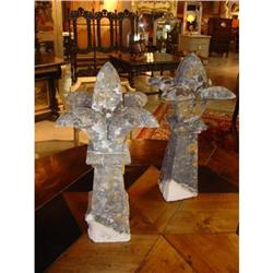Pair of Stone Architectural Church Elements #2395156