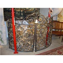 Pair of Antique Demi-Lune Iron Gates from #2395159