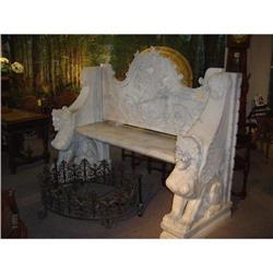 Carrara Marble Bench #2395161