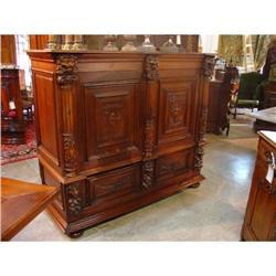 Antique Three-Quarter Oak Cabinet  #2395162