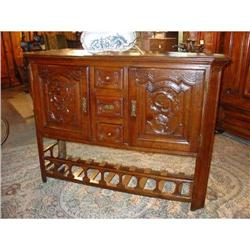 Antique French Buffet with Pannetiere #2395163
