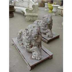 French Pair of Antique Lions~70 years old #2395164