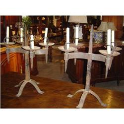 Iron Chateau Candleabras from France #2395168