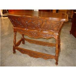 Hand Carved Walnut Wood Maie from France #2395170