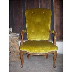 18th c French Louis 15th fauteuil arm chair  #2395175