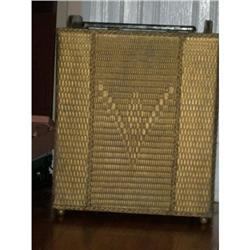 ANTIQUE WICKER BASKET GOLD PAINTED #2395179