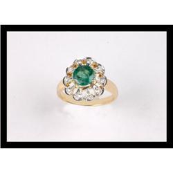 BEAUTIFUL  DIAMOND AND EMERALD YELLOW  GOLD #2365490