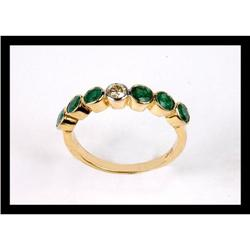 BEAUTIFUL  DIAMOND AND EMERALD  YELLOW  GOLD #2365491
