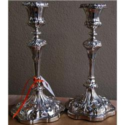 Pair Antique Sheffield Candlesticks, c. 1830. #2365497