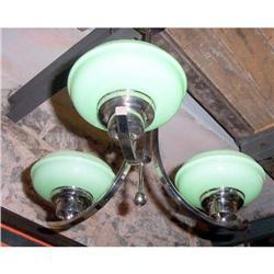 Art Deco Chrome Electric chandelier #2365503